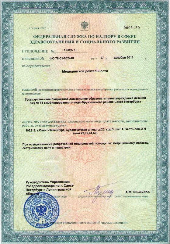 внесение изменений в медицинскую лицензию
